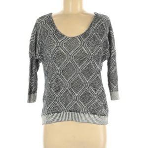 Aeropostale boho black, white, grey knit sweater